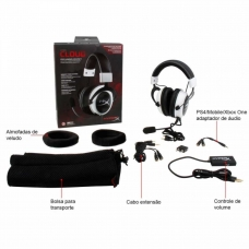 Headset HyperX Cloud Kingston Cloud Pro Gaming White KHX-H3CLW