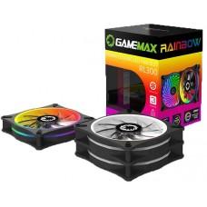 Kit com 3 Fans 120mm Gamemax Rainbow Com Controle RL300 - Open Box