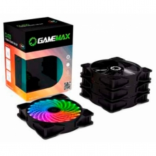 Kit com 4 Fans 120mm Gamemax RGB Com Controle CL400