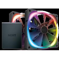 Kit Controlador de Iluminação Led  HUE2 + 2 Fan 140mm Led RGB NZXT, HF-2814C-D1