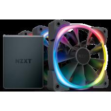 Kit Controlador de Iluminação Led  HUE2 + 3 Fan 120mm Led RGB NZXT, HF-2812C-T1