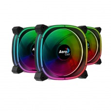 Kit Fan com 3 Unidades Aerocool Astro 12 Pro, ARGB, 120mm