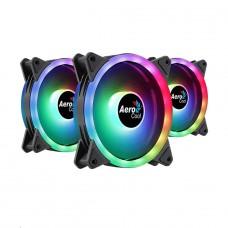 Kit Fan com 3 Unidades Aerocool Duo 12 Pro, ARGB, 120mm