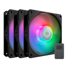 Kit Fan com 3 Unidades, Cooler Master, SickleFlow MasterFan MF120 Halo, RGB, 120mm, 1800RPM, MFX-B2DN-183PA-R1