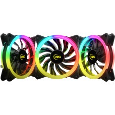 Kit Fan com 3 Unidades KWG Gemini M1-1203R, RGB 120mm