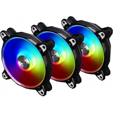 Kit Fan com 3 Unidades Lian Li Bora Digital RGB 120mm, Black