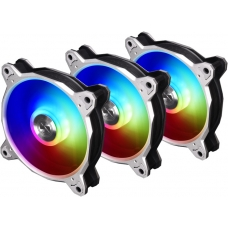 Kit Fan com 3 Unidades Lian Li Bora Digital RGB 120mm, Silver