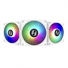 Kit Fan com 3 Unidades Lian Li ST120, ARGB, White, 120mm, ST120-3W