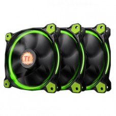 Kit Fan com 3 Unidades Riing ThermalTake, Led Green 120mm, CL-F055-PL12GRA