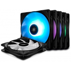 Kit Fan com 5 Unidades Deepcool RF120M RGB 120mm, DP-FRGB-RF120-5C-M