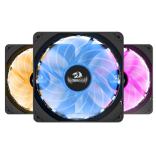 Kit Fan com 3 Unidades Redragon, RGB, 120mm, Com Controladora, GC-F006