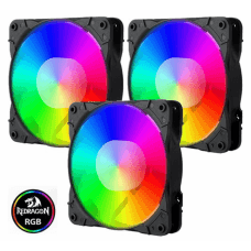 Kit Fan com 3 Unidades Redragon, RGB 120mm, Com Controladora, GC-F007