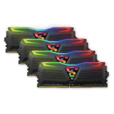 Kit Memória DDR4 Geil Super Luce RGB, 32GB (4X8GB) 3000MHz, Black, GALS48GB3000C16ASC