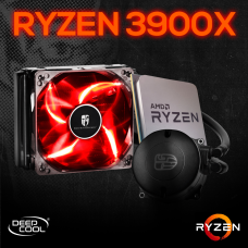 Kit Processador AMD Ryzen 9 3900x 3.8ghz (4.6ghz Turbo), 12-core 24-thread, + Water Cooler Gamer Storm Deepcool Maelstrom 120T