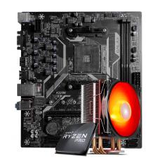 Kit Upgrade, AMD Ryzen 3 PRO 3200GE 3.8GHz Turbo + Cooler, + Galax A320M