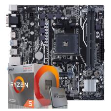 Kit Upgrade Placa mãe Asus Prime A320M-K AMD AM4 + Processador AMD Ryzen 5 2600