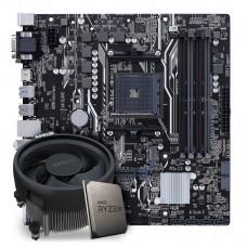 Kit Upgrade Placa Mãe Asus Prime B450M-A AMD AM4  + Processador AMD Ryzen 5 3600 3.6GHz
