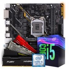 Kit Upgrade Placa Mãe Asus TUF H310M-Plus Gaming LGA 1151 + Processador Intel Core i5 9400F 2.90GHz + Memória DDR4 16GB 2666MHz