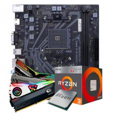 Kit Upgrade, AMD Ryzen 3 2200G, Colorful A320M-M.2 PRO V15, Memória DDR4 16GB (2x8GB) 3000MHz