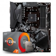 Kit Upgrade Placa Mãe Gigabyte B550 Gaming X AMD AM4 + Processador AMD Ryzen 7 3700x 3.6GHz