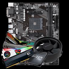 Kit Upgrade, AMD Ryzen 3 2200G, Gigabyte GA-A320M-S2H, Memória DDR4 16GB (2x8GB) 3000MHz