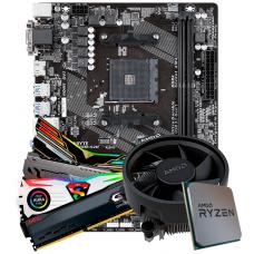 Kit Upgrade, AMD Ryzen 5 2400G, Gigabyte GA-A320M-S2H, Memória DDR4 8GB 2666MHz
