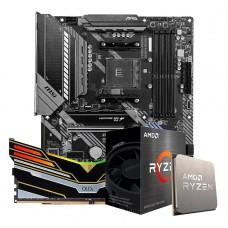 Kit Upgrade Placa Mãe MSI MAG B550 TOMAHAWK AM4 + Processador AMD Ryzen 5 5600X + Memória OLOy WarHawk Black RGB DDR4 8GB 3000MHz
