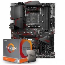 Kit Upgrade Placa Mãe MSI MPG X570 Gaming Plus, AMD AM4 +  Processador AMD Ryzen 9 3900x 3.8GHz
