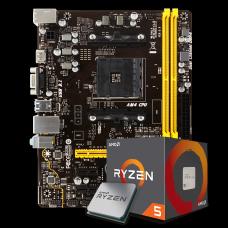 Kit Upgrade Placa Mãe Biostar A320MH DDR4 AMD AM4 + Processador AMD Ryzen 5 2400G 3.6GHz