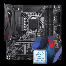 Kit Upgrade Placa Mãe Gigabyte Z390 M GAMING DDR4 Crossfire LGA 1151 + Processador Intel Core i9 9900K 3.60GHz 16MB