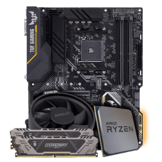 Kit Upgrade Placa Mãe Asus TUF B450-PRO GAMING DDR4 + Processador AMD Ryzen 5 2600X 3.6GHz + Memória DDR4 Crucial Ballistix Sport TUF Edition 16GB (2X8GB) 3000MHz