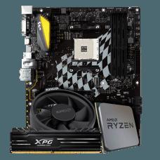 Kit Upgrade Placa Mãe BIOSTAR B350GT5 DDR4 + Processador AMD Ryzen 5 2600X 3.6GHz + Memória DDR4 XPG GAMMIX D10, 8GB 3000MHZ