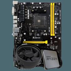 Kit Upgrade Placa Mãe Biostar PRO TB350-BTC AMD AM4 DDR4 + Processador AMD Ryzen 5 2600X 3.6GHz