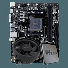 Kit Upgrade Placa Mãe Biostar B45M2 AMD AM4 DDR4 + Processador AMD Ryzen 5 2600X 3.6GHz