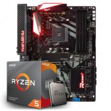 Kit Upgrade Placa Mãe Biostar Racing X470GT8 AMD AM4 + Processador AMD Ryzen 5 3600x 3.8ghz + Memória DDR4 8GB 2666MHz