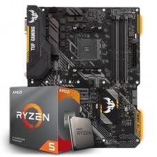 Kit Upgrade Placa Mãe Asus TUF B450-Plus Gaming, AMD AM4 + Processador AMD Ryzen 5 3600 3.6GHz