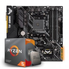 Kit Upgrade Placa Mãe Asus TUF B450M-PLUS GAMING, AMD AM4 + Processador AMD Ryzen 5 3600 3.6GHz
