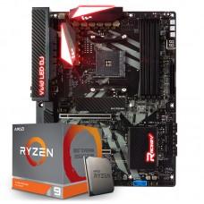 Kit Upgrade Placa Mãe Biostar Racing X470GT8, AMD AM4 + Processador AMD Ryzen 9 3900x 3.8GHz