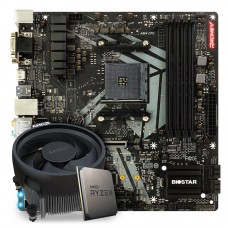 Kit Upgrade Placa Mãe Biostar Racing B450GT3 AMD AM4  + Processador AMD Ryzen 5 3600 3.6GHz