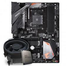 Kit Upgrade Placa Mãe Gigabyte B450 Aorus Elite AMD AM4  + Processador AMD Ryzen 5 3600 3.6GHz