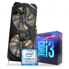 Kit Upgrade Processador Intel Core i3 9100F 3.6GHz + Placa de Video GeForce GTX 1660 6GB