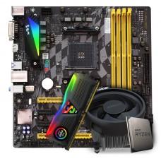 Kit Upgrade Placa Mãe BIOSTAR B350GTX DDR4 + Processador AMD Ryzen 5 3600 3.6GHz + Memória DDR4 8GB 3000MHZ