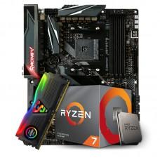 Kit Upgrade Placa Mãe Biostar Racing X570GT8, AMD AM4 + Processador AMD Ryzen 7 3700x 3.6GHz + Memória DDR4 8GB 3000MHz