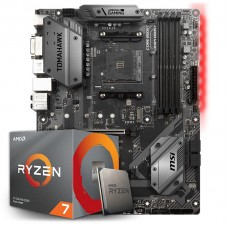Kit Upgrade Placa Mãe MSI B450 Tomahawk AMD AM4 + Processador AMD Ryzen 7 3700x 3.6GHz