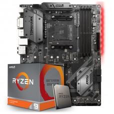 Kit Upgrade Placa Mãe MSI B450 Tomahawk AMD AM4 + Processador AMD Ryzen 9 3900x 3.8GHz