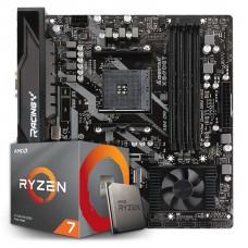 Kit Upgrade Placa Mãe Biostar Racing X570GT + Processador AMD Ryzen 7 3700x 3.6GHz