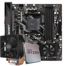 Kit Upgrade Placa Mãe Biostar Racing X570GT + Processador AMD Ryzen 7 3800x 3.9GHz + Cooler Master Hyper H412R