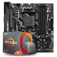 Kit Upgrade Placa Mãe Biostar Racing X570GT + Processador AMD Ryzen 7 3800x 3.9GHz