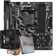 Kit Upgrade Placa Mãe Biostar Racing X570GT + Processador AMD Ryzen 9 3900x 3.8GHz + Cooler Master Hyper H412R