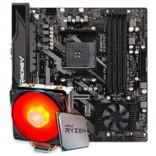 Kit Upgrade Placa Mãe Biostar Racing X570GT + Processador AMD Ryzen 9 3900x 3.8GHz + Cooler Deepcool Gammaxx 400 de 120mm